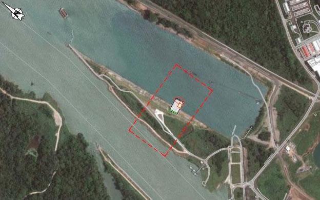 Muelles temporales para la descarga de las compuertas para las nuevas esclusas del canal de Panamá (lado Atlántico y Pacífico)