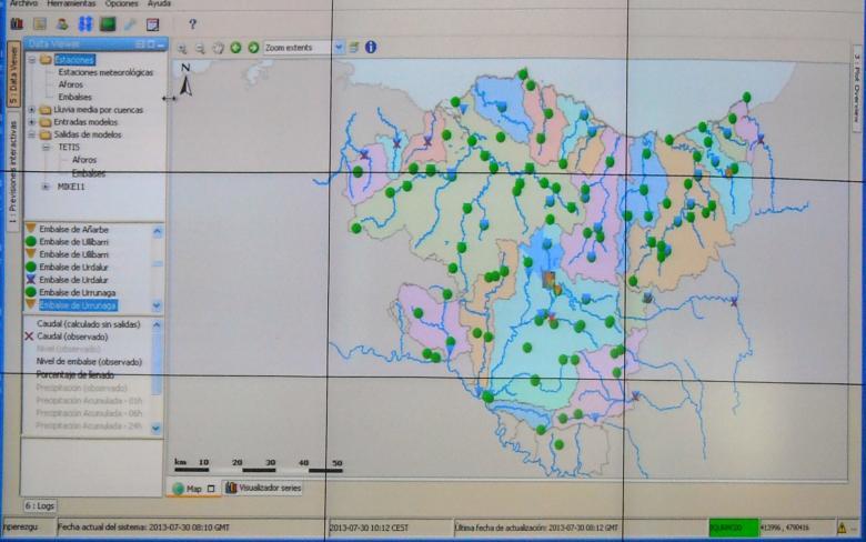 Sistema de predicción y alertas hidrológicas