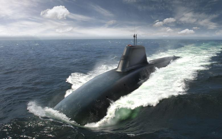 Successor submarine above water
