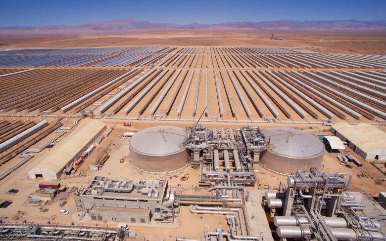 Planta termosolar NOORo I en Ouarzazate (Marruecos)