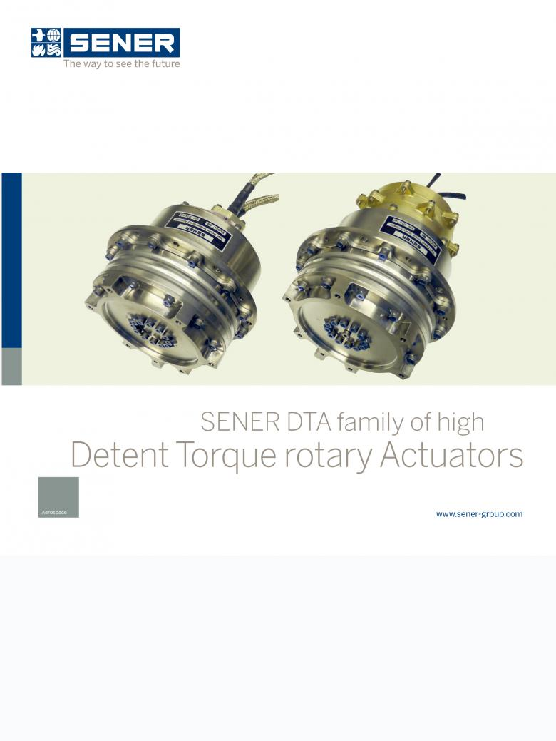 SENER DTA family high Detent Torque rotatory actuators