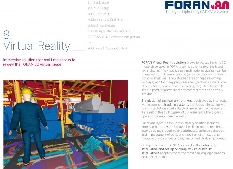 Front cover Brochure 8: FORAN Virtual Reality