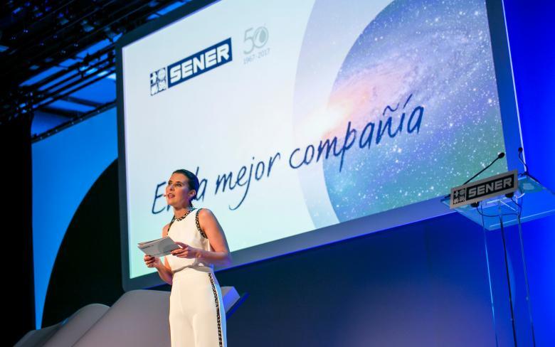 Inicio de la celebración del 50 aniversario de SENER en Espacio