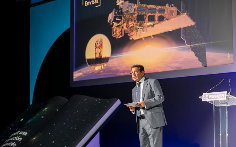 Diego Rodríguez durante la celebración del 50 aniversario de SENER en Espacio