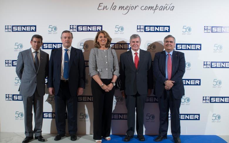 Celebración del 50 aniversario de SENER en Espacio en Madrid