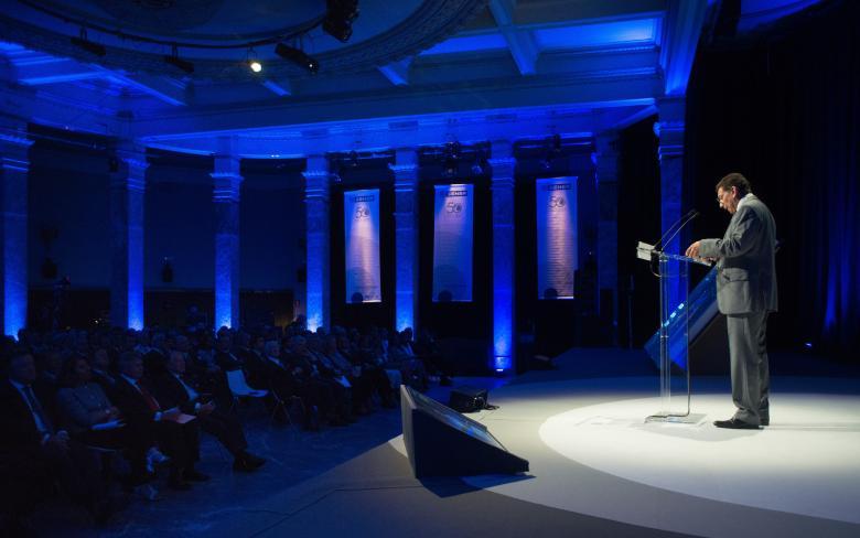 Diego Rodríguez durante la celebración en Madrid del 50 aniversario de SENER en Espacio