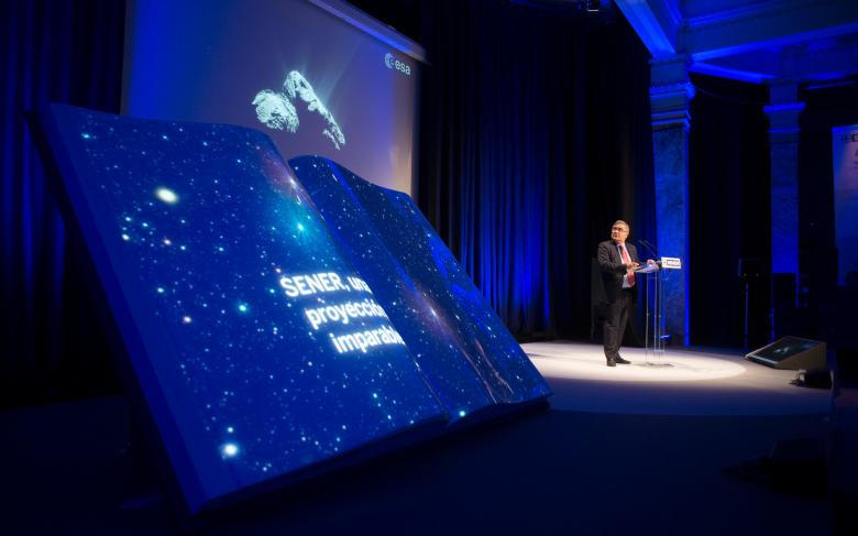 Álvaro Giménez en el 50 aniversario de SENER en Espacio