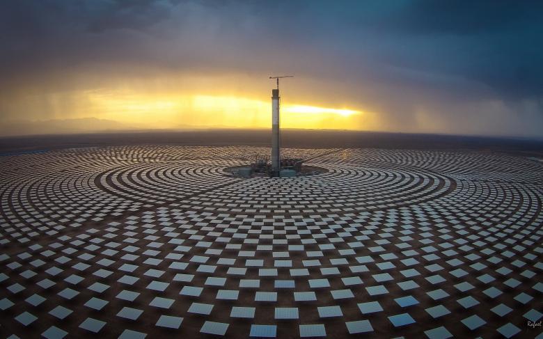 Tour centrale centrale solaire thermique NOORo III