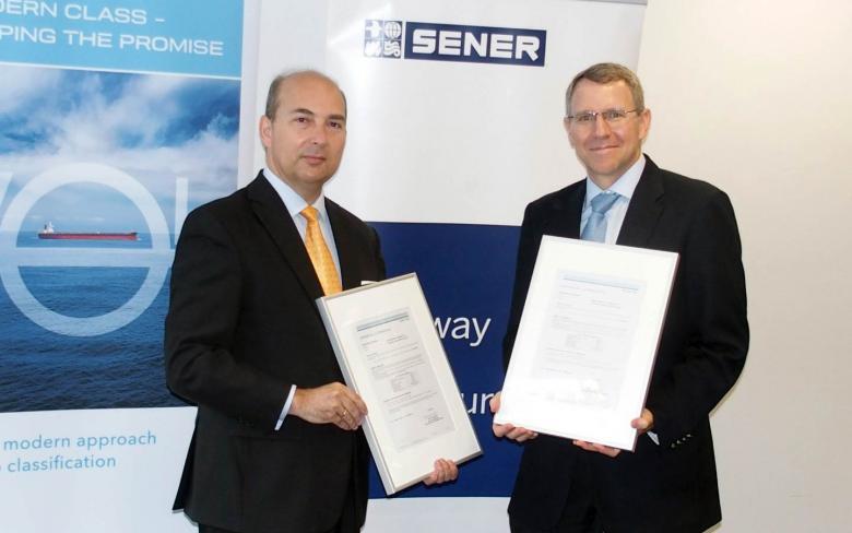 SENER recibe el certificado AiP de DNV GL para el diseño de dos innovadores buques, con propulsión a gas, para suministro de GNL