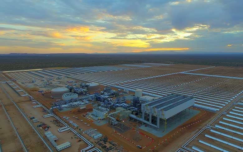 The 100 MW Kathu solar power plant with molten salt storage system accomplished first synchronization