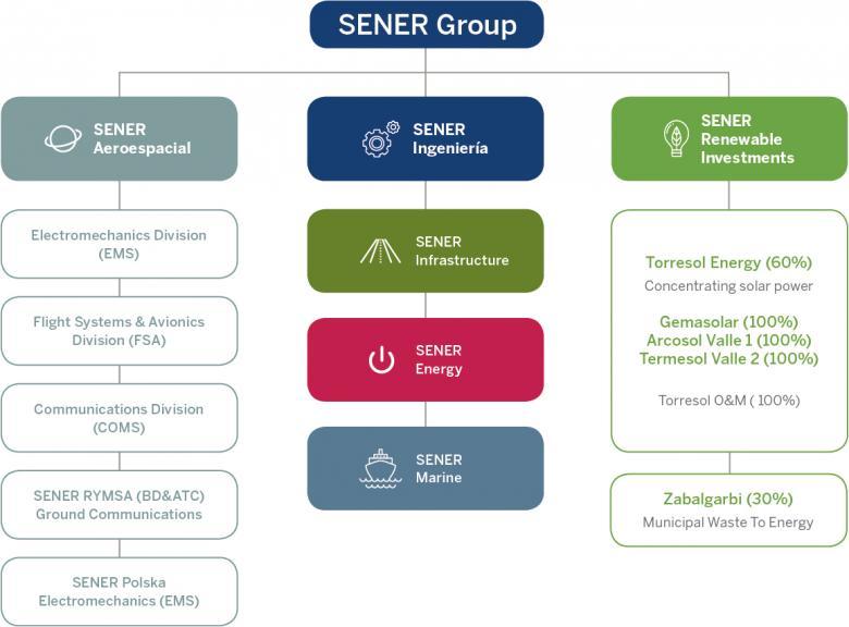 SENER organization chart