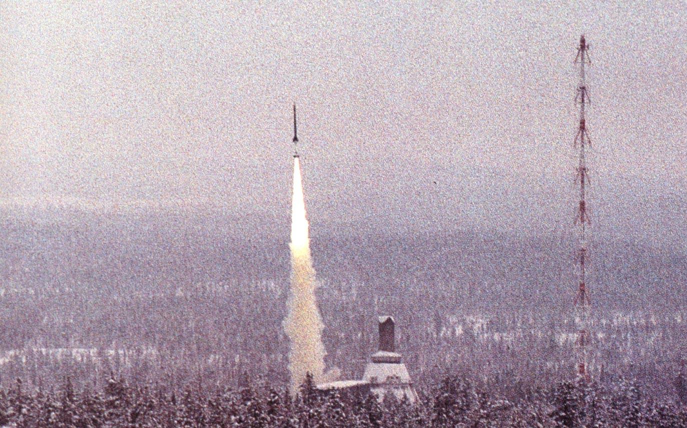50 años de actividad de la torre de Lanzamiento de Kiruna
