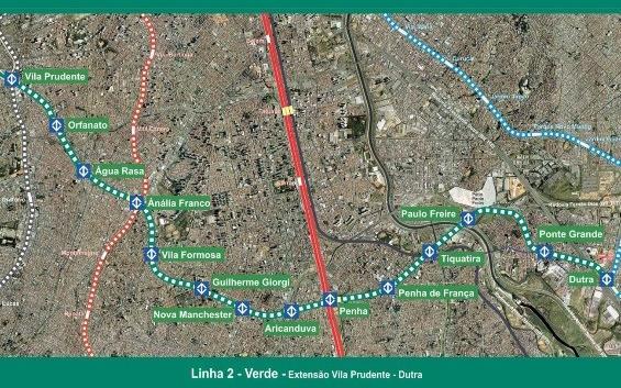 """São Paulo Metro Line 2, Lot 1 """"Linha Verde"""""""