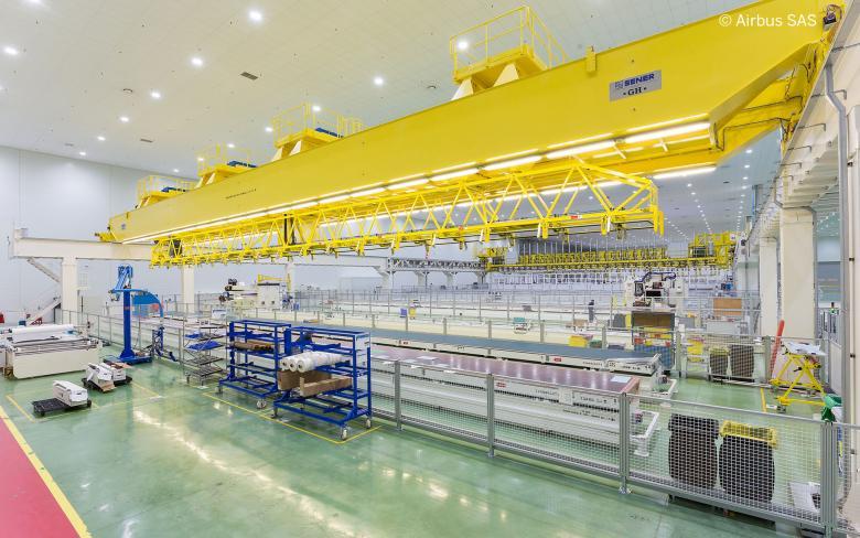 SENER participa en la célula de producción y posicionamiento de larguerillos del A350XWB