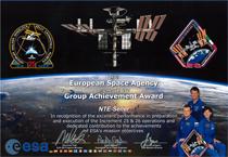 SENER consigue el reconocimiento Group Achievement Award de la ESA