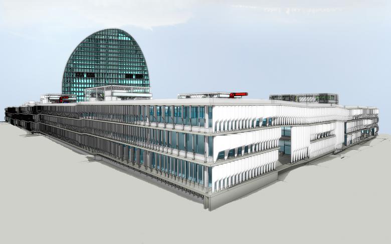 Edificio BBVA realizado con BIM