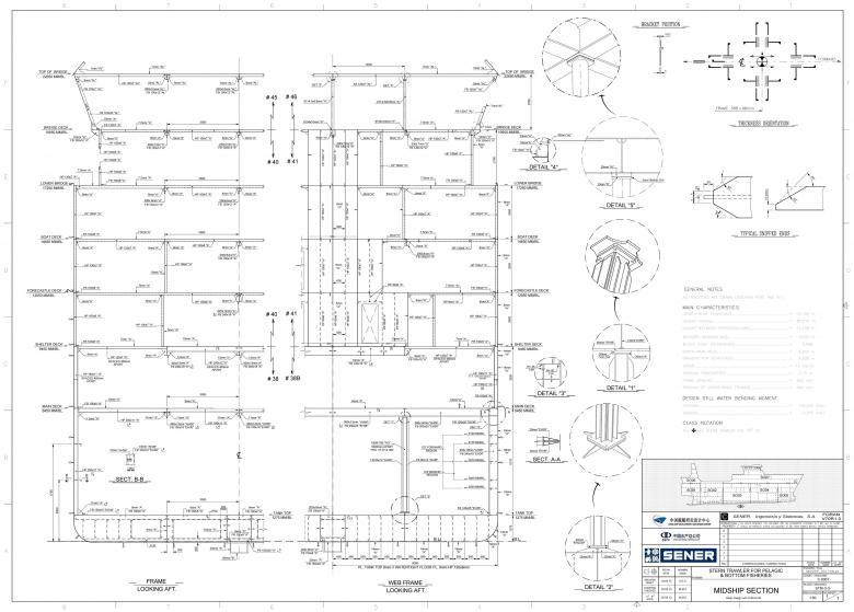 SENER NAVAL - Subistemas FORAN CAD Plano