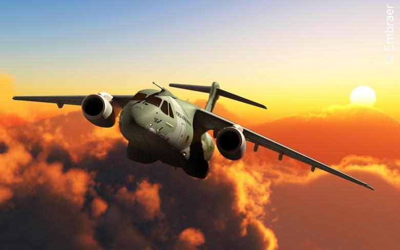 Avión KC 390 de Embraer