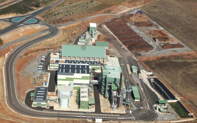 Planta de biomasa Ence en Mérida (España)