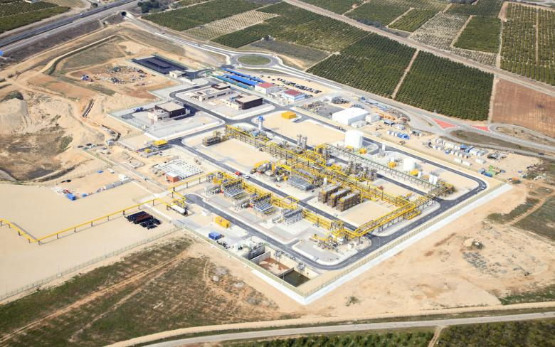 Castor natural gas undergroung strategic storage plant