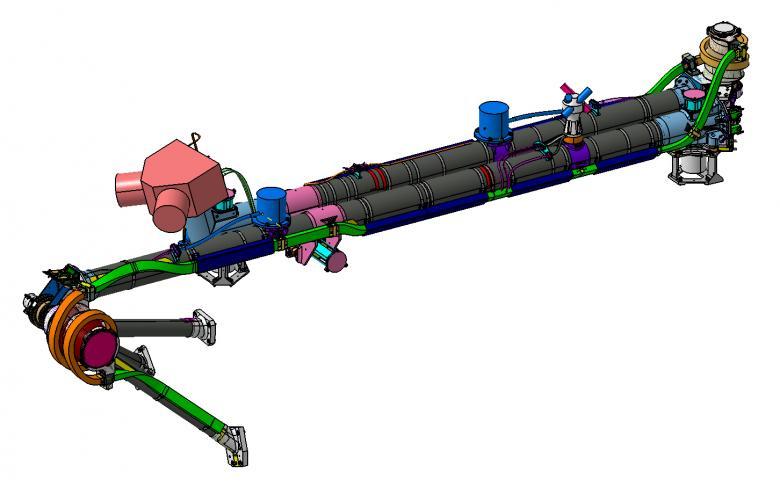 Solar Orbiter instrument boom