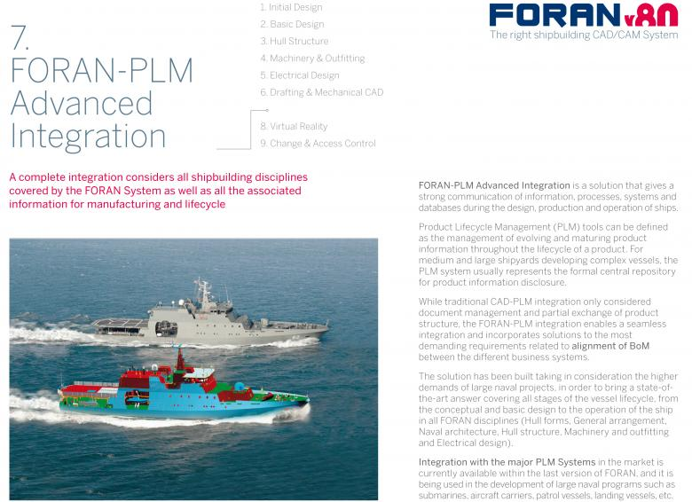 FORAN brochure 7: FORAN-PLM Advanced Integration
