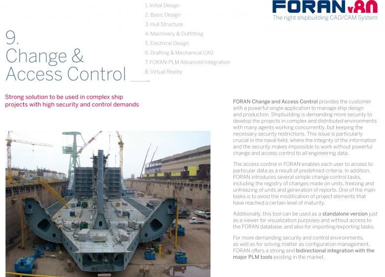 Front cover Brochure 9: FORAN change and access control