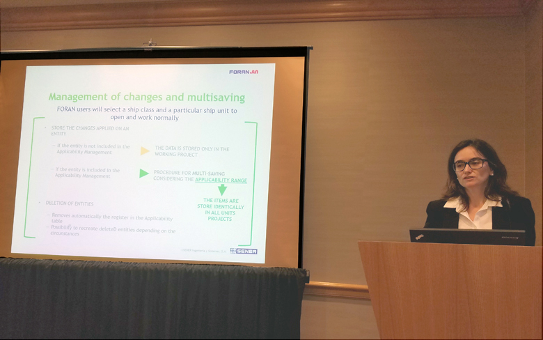 FORAN optimizes sister ships management, presented by SENER at the annual SNAME Convention in the United States
