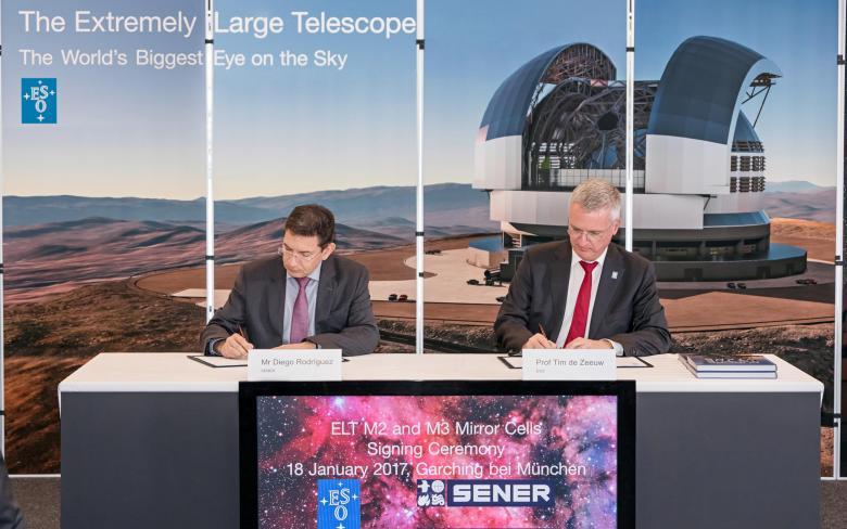 SENER firma un contrato con el Observatorio Europeo Austral para los mecanismos M2 y M3 del E-ELT