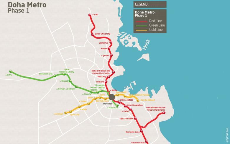 Acabados arquitectónicos de la red de metro de Doha