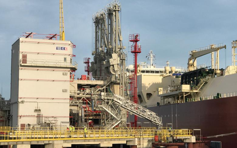 Zeebrugge LNG regasification plant