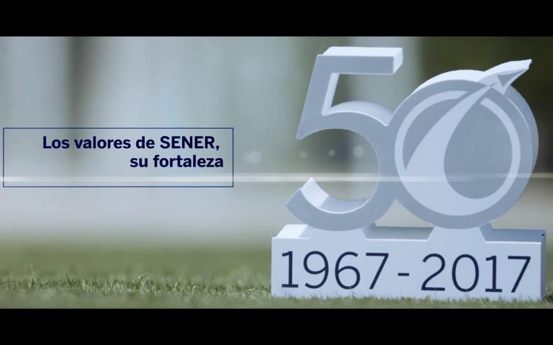 Vídeo SENER en Espacio, 50 años en la mejor compañía