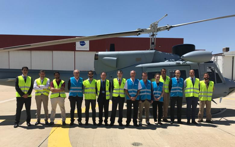 Delivery of the 4th ab212 helicopter