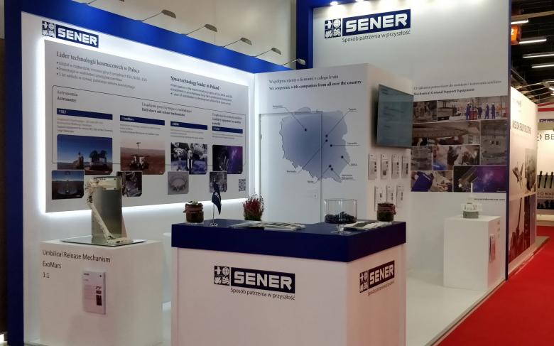 SENER exhibits high-technology Space projects developed in Poland at MSPO