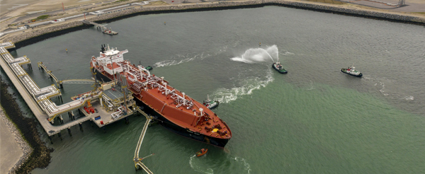 First LNG carrier in Dunkirk