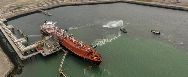 Llegada primer barco GNL a Dunquerque