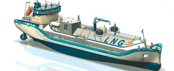 Liquefied Natural Gas (LNG) bunkering vessel