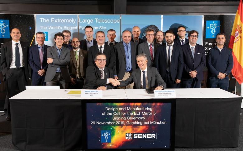 SENER Aeroespacial firma un contrato con el Observatorio Europeo Austral para el mecanismo del espejo M5 del telescopio ELT