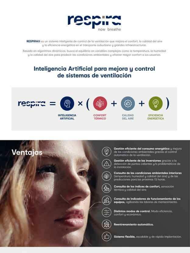RESPIRA® - Inteligencia Artificial para mejora y control de Sistemas de Ventilación