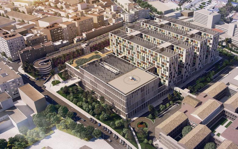 SENER contributes to the drafting of the preliminary design of the new Malaga hospital
