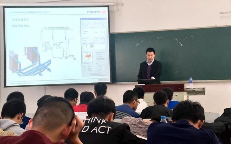 Ponencia sobre el diseño digital 3D de buques con el sistema FORAN en la Dalian Ocean University