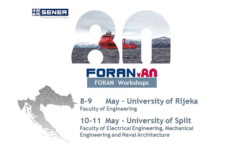 SENER firma un acuerdo con las Universidades de Rijeka y Split para el uso de FORAN con fines académicos